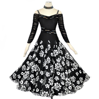 Lady Customized Ballroom Dance Dress Girls Waltz Tango Dancing Dresses Female Standard Flamenco Dress Ballroom Costumes D 0392