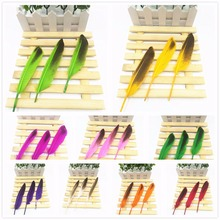 Hot 10pcs / lot! 5-8 inches 12-20 cm long, rare duck feathers imitation eagles feather costume set DIY