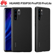 HUAWEI P30 Pro Case Original Carbon Fiber Texture PU Leather Full Protection Back Cover HUAWEI P20 P30 Lite Phone Case Funda(China)
