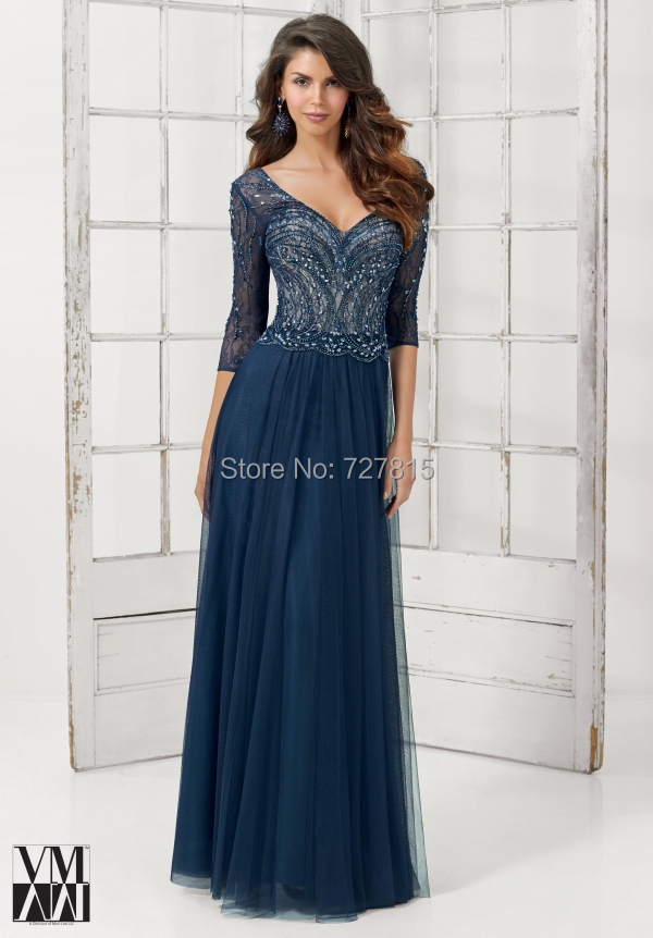 34 Sleeve Mother Of The Bridedresses A Line Vestidos