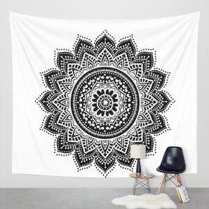 Image 3 - Nuevo estampado de tapiz de loto mándala Bohemia, tapiz colgante de pared para decoración de pared, tapiz Hippie, estera de playa, estera de Yoga