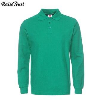 Camiseta polo para hombre camisas de manga larga sólidas Camisa Masculina de algodón informal talla grande talla Europea S-3XL camisetas de marca