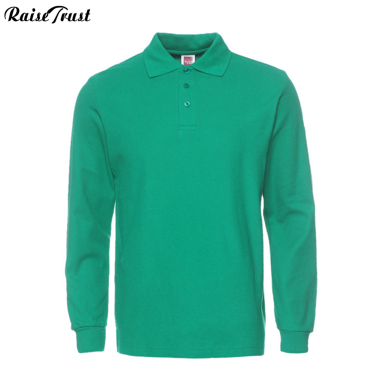 Men polo Shirt Mens Long Sleeve Solid Shirts Camisa  Masculina Casual cotton Plus size European size S-3XL Brand Tops Tees