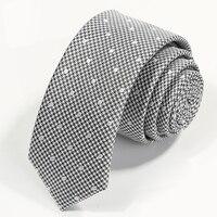 عالية الجودة 2017 جديد الرجال بدلة رسمية الأعمال العلاقات الأزياء البولكا نقطة 5 سنتيمتر العلاقات للرجال عارضة ضئيلة لحمي cravata هدية مربع رمادي