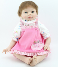 High Quality Soft Vinyl Adora Baby Girl Doll 22″on Beautiful Pink Dress Hand Rooted Brown Hair/Blue Eyes