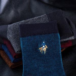 Image 5 - PIER POLO Brand Men Socks Embroidery Socks Cotton Meias High Quality Mens Dress Socks Deodorant Fashion Happy Socks