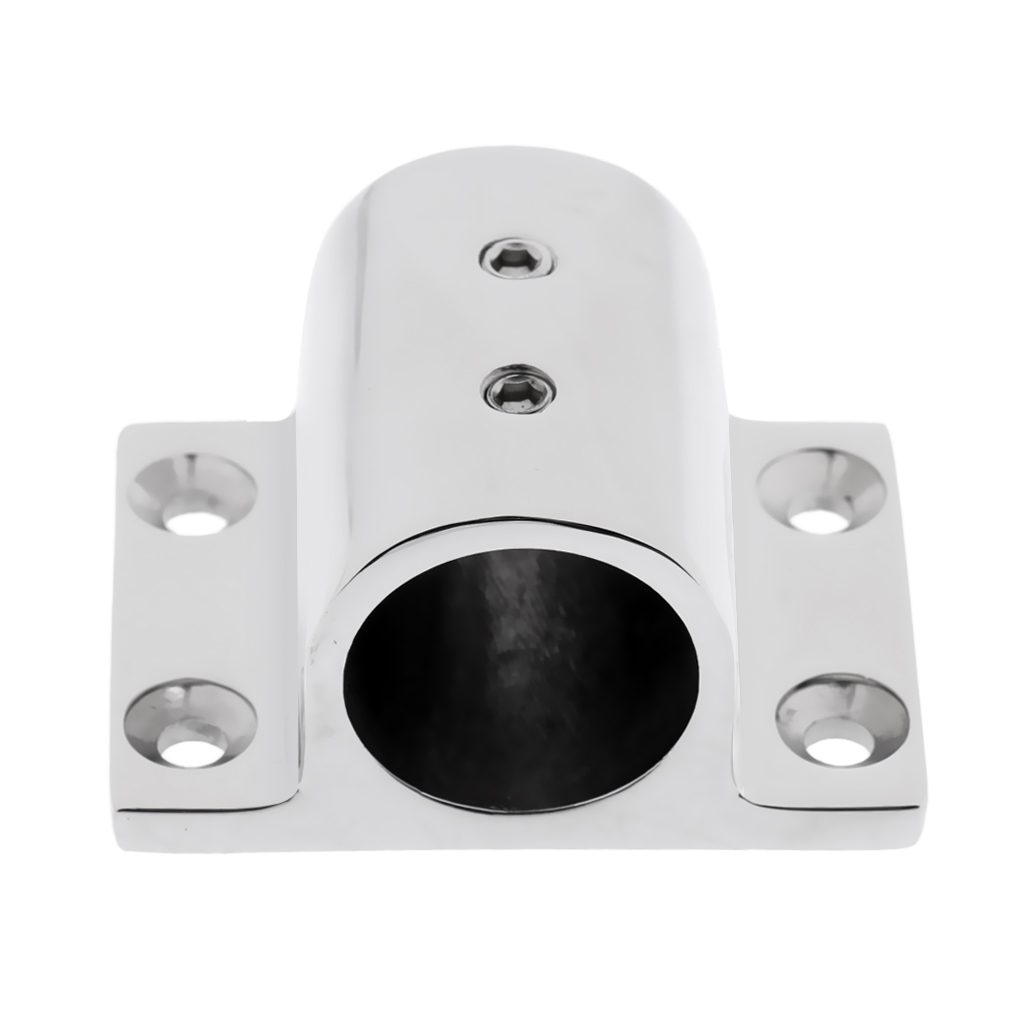 316 Stainless Steel Boat Hand Rail Fittings 90 Degree Stanchion Rectangle Base Marine Deck Hardware For 25mm Tubing