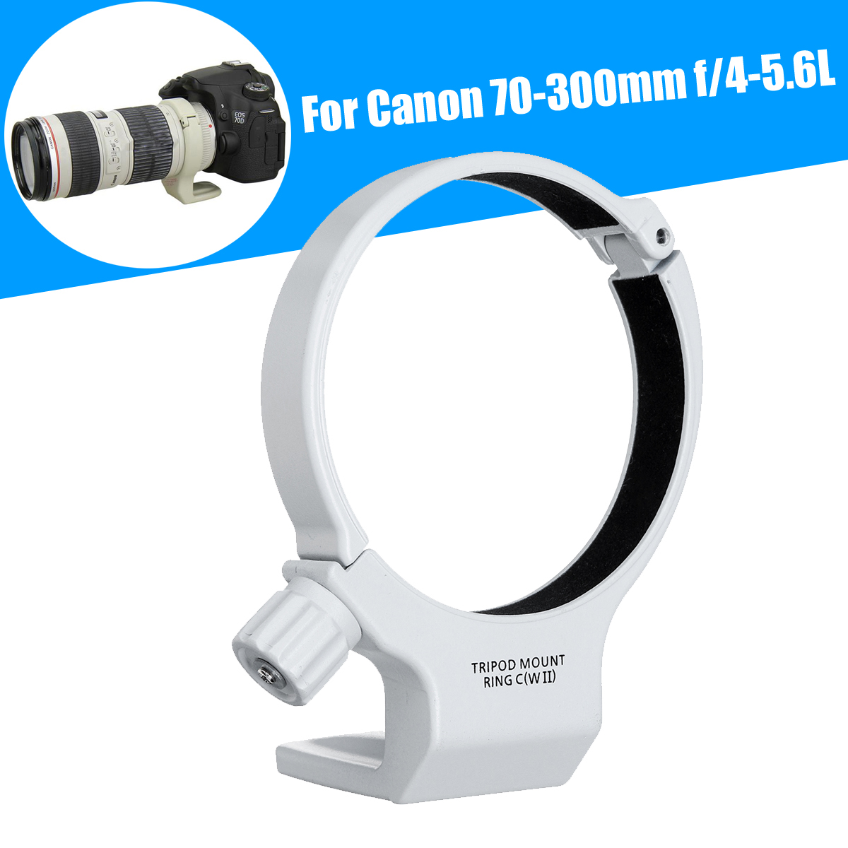 Hot Sale Leory Tripod Mount Collar Ring C Wii For Canon Ef 70 Module Mini 360 Dc Buck Converter Step Down 475v 23v To 1v 17v 17x11x38mm Mini360 New Lm2596 300mm F 4 56l Is Usm Gray White Metal
