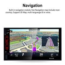 7 pulgadas Android 6.0 Sistema Del Coche de Radio Multimedia 2 DIN Reproductor de DVD Incorporado de Navegación GPS Wifi FM/AM Radio Táctil Capacitiva pantalla