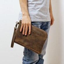 1 Free Shipping Handmade Crocus Men's Handbags Business Men's Handbags Top Layer Cowhide High Capacity Practical Men's Wallets