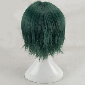 Image 5 - Hairjoy cabelo sintético homem hortelã verde em camadas curto em linha reta masculino peruca cosplay frete grátis 5 cores disponíveis