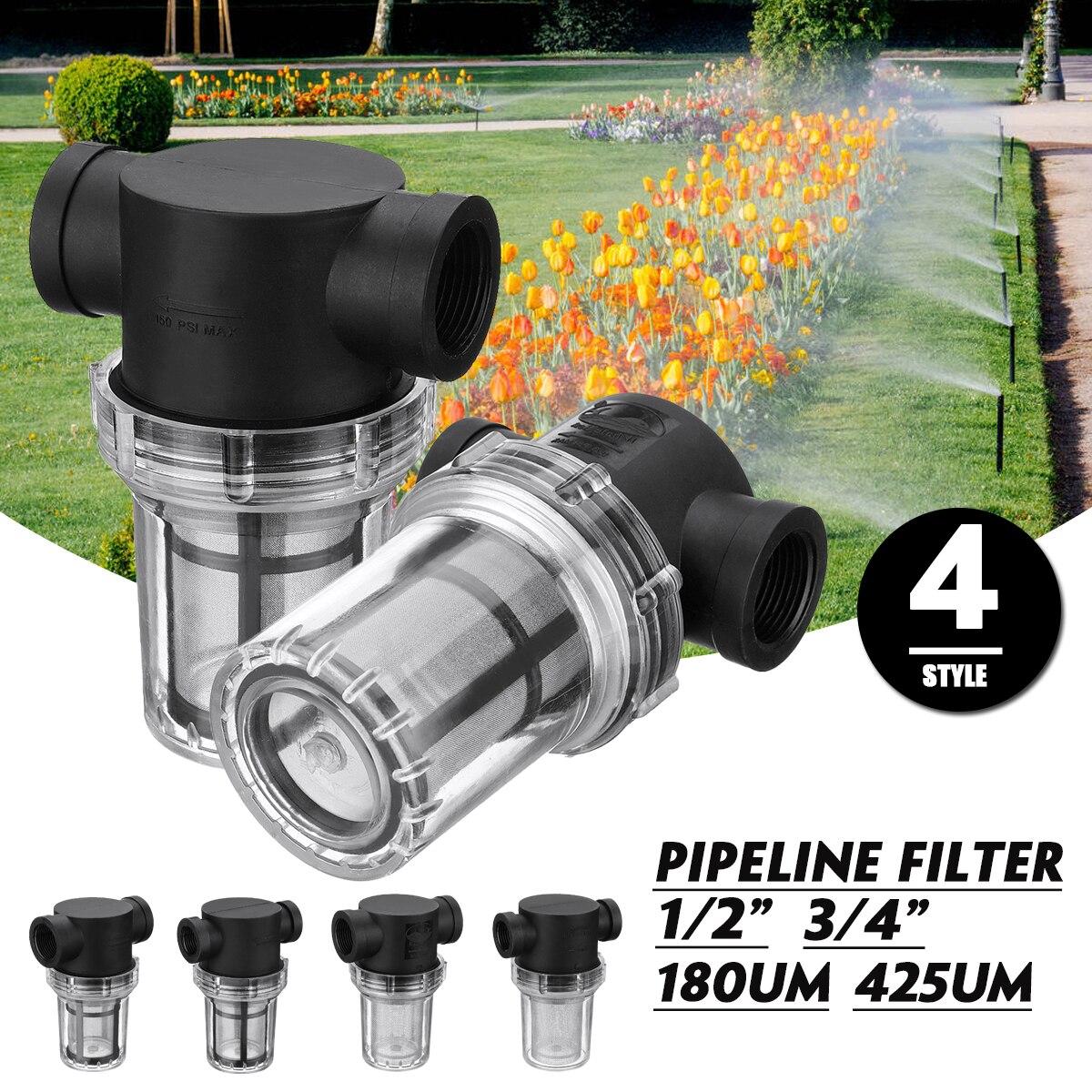 1 pcs Garden Pond 1/4 polegada 3/4 polegada Em Linha Filtro de Malha Filtro Da Bomba de Água de Irrigação Gasoduto Filtro de Alto Fluxo