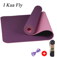 Yoga Mats 6MM TPE For Fitness Tasteless Brand Pilates Mat Gym Exercise Sport Mats Pads with Yoga Bag Yoga 4