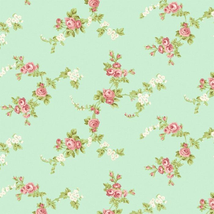 download mint green flower wallpaper gallery