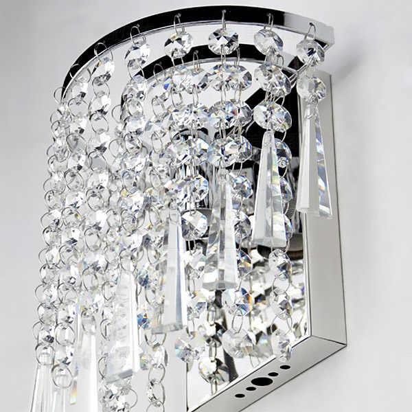 Современный художественный Стразы высокого качества настенный светильник для дома, спальни, гостиной, украшения для помещений, Европейский роскошный стиль