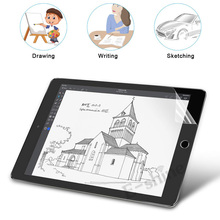 Paper-Like Anti Glare Matte PET Screen Protector for iPad 9.7 10.5 Mini 5 Paper Texture Film Get Apple Pencil Tip Cover Free 2pcs pack good quality matte film for apple ipad pro 10 5 screen protector front anti glare protective film cover