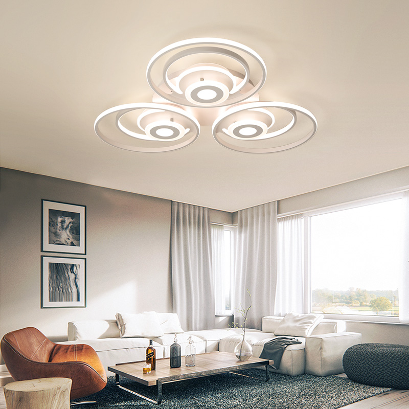 Image 4 - New Round Modern led Ceiling Lights For Living room Bed room light home lighting white Aluminum high brightness Ceiling Lamp-in Ceiling Lights from Lights & Lighting