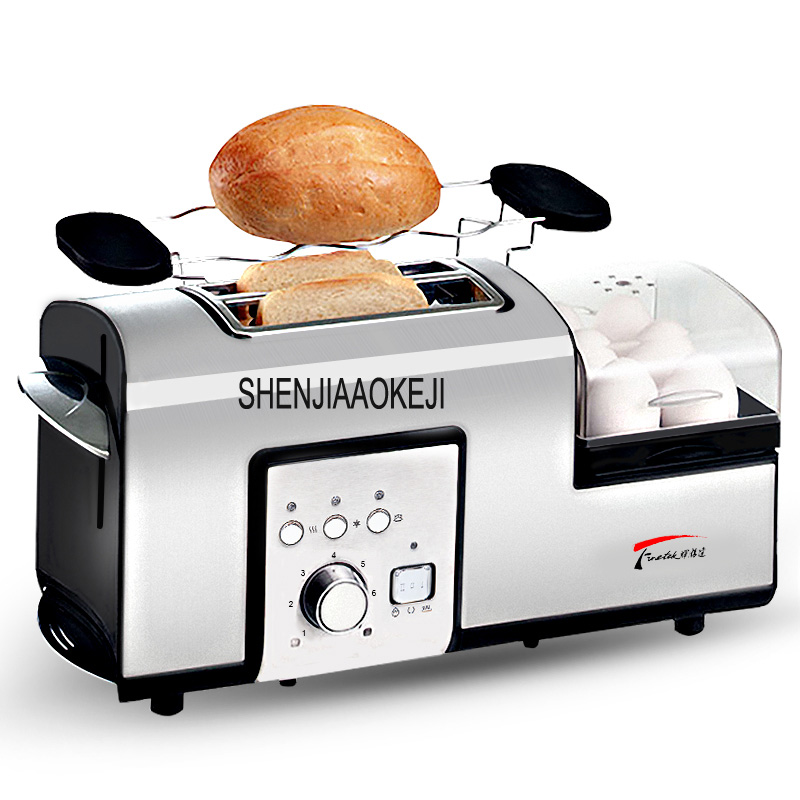 HX-5090  Home Toaster Breakfast toaster steaming and boiling Multifunctional stainless steel Steam egg Machine 220V 1PC