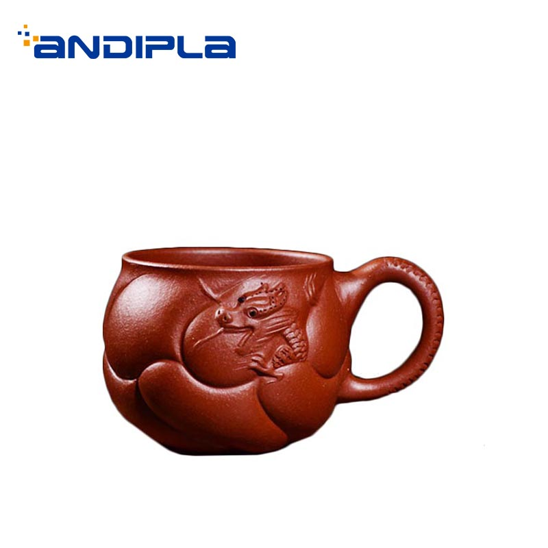 100ml Chinese Style Yixing Purple Teacup Handmade Embossed Dragon Vintage Small Espresso Coffee Mug Home Drinkware Cups Gifts100ml Chinese Style Yixing Purple Teacup Handmade Embossed Dragon Vintage Small Espresso Coffee Mug Home Drinkware Cups Gifts