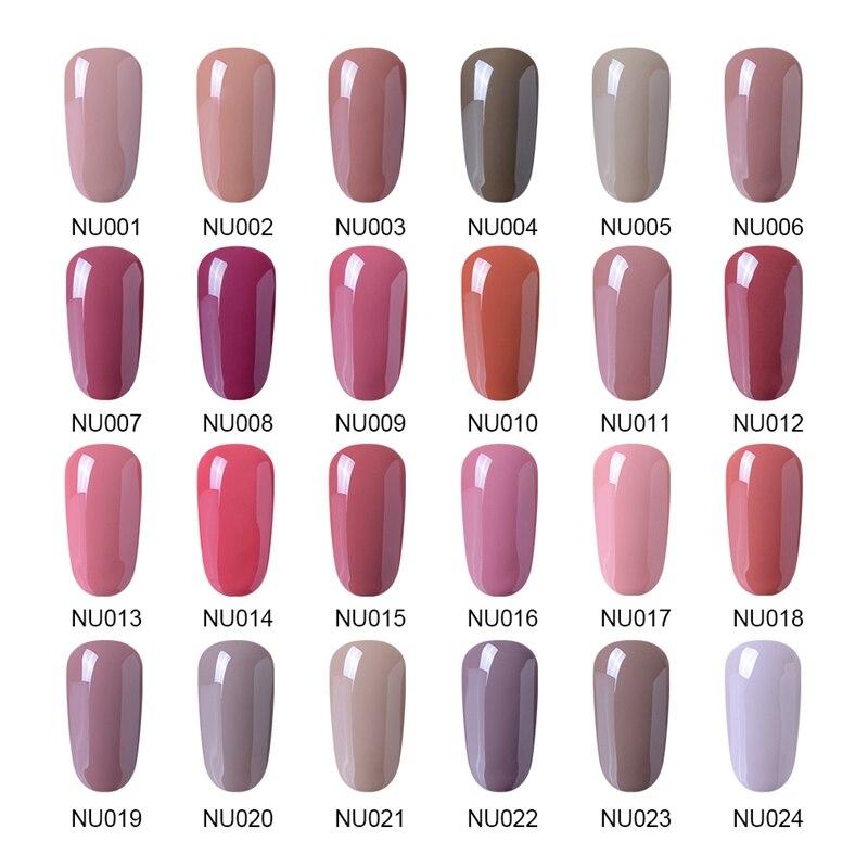 Elite99 10ml Nude Color Series Nail Gel Professionel Farve Gel Polsk - Negle kunst - Foto 2