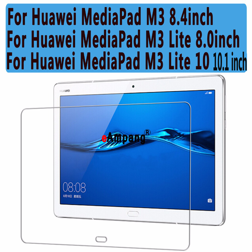 Clear Explosion-proof Tempered Glass for Huawei MediaPad M3 8.4 /M3 Lite 8 Screen Protector for Huawei MediaPad M3 Lite 10 for huawei mediapad t3 8 inch glass for huawei mediapad t3 9 6 inch m3 8 8 4 10inch m5 8 4 10 8inch tablet screen protector