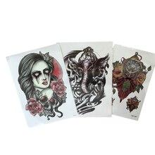 3PCS Waterproof Temporary Tattoos For Men Women Transfer Tattoo Stickers Arm Sticker For Body Art 3D Tattoo Sleeve Tatuajes