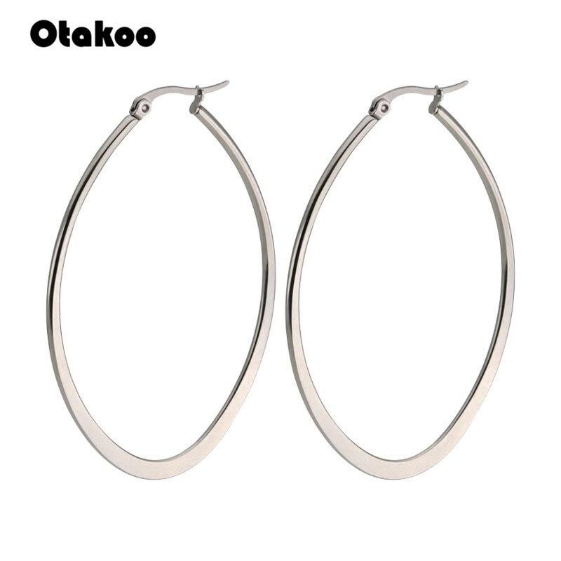 Otakoo 4 farbe 316L edelstahl schmuck frauen ohrringe Gold farbe mode schmuck ohr ring freies verschiffen Eigenschaften