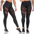 NORMOV S-XL Women Sex Net Leggings Adventure Time Black Leggings Workout Legging Fashion Stretch Slim Breathable Leggings Women