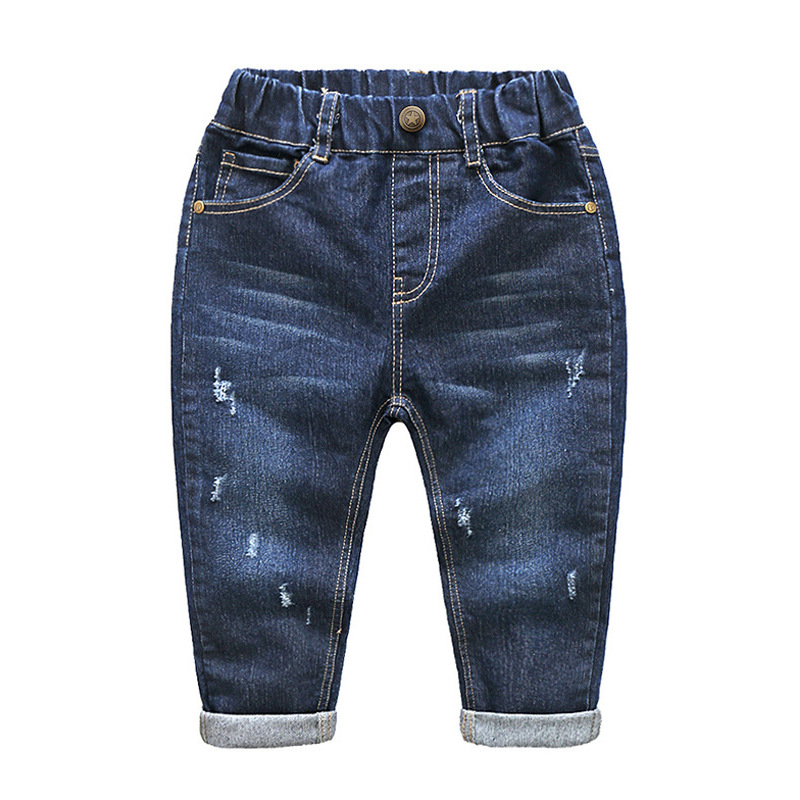 baby boys denim pants spring autumn children's trousers boy children jeans leisure trousers(China)
