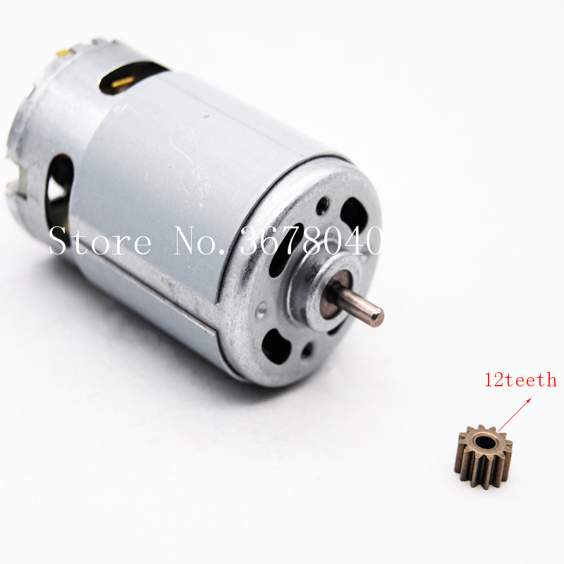 MOTOR RS550 20000RPM 10.8V/12V/14V/14.4V/16.8V/18V/21V/24V/25V (12 TEETH) SUITABLE FOR BOSCH MAKITA HITACHI CORDLESS DRILL 1pc stable electric rs550 motor 12v 14 4v 18v 12 teeth gear 1 0 mold 3mm shaft dia for cordless charge drill screwdriver mayitr