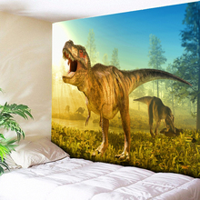 Psychedelic Hippie Tapestry 3D Dinosaur Print Large Wall Hanging for Childrens Bedroom Beach Towel Thin Blanket Yoga Shawl Mat