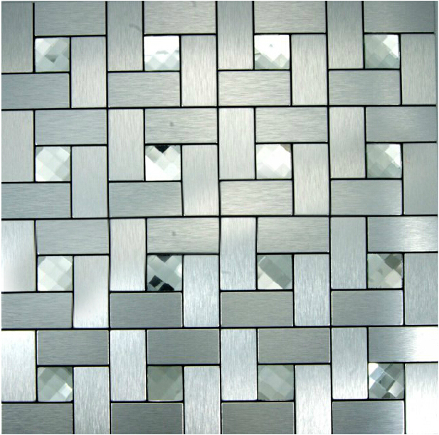 Kitchen Backsplash Self Adhesive Tiles Price For 11sheets Lot Silver Diamond Brushed Self