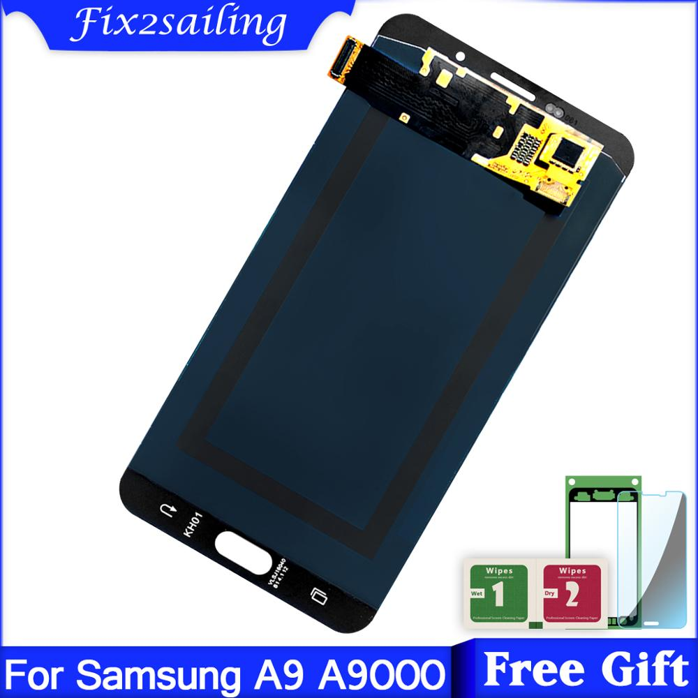 6.0 AMOLED Display for SAMSUNG Galaxy A9 A9000 A900 A900F LCD Display + Touch Screen Digitizer Assembly Black / White6.0 AMOLED Display for SAMSUNG Galaxy A9 A9000 A900 A900F LCD Display + Touch Screen Digitizer Assembly Black / White