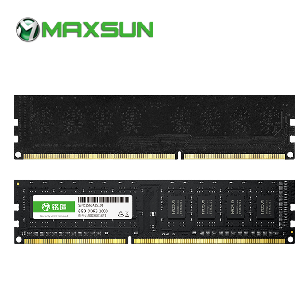 MAXSUN F1 RAMs DDR3 4GB/8GB Desktop Memory 1600MHz memory voltage 1.5V 11-11-11-28 Lifetime Warranty 240pin Single ram pc3 12800