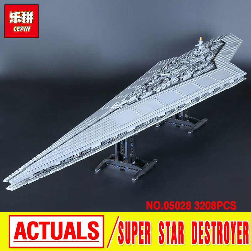 Lepin 05028 Genuine Building Blocks toy super star Destroyer Model Block Brick Compatible 10221 3208pcs birthday christmas gifts 05028 star wars execytor super star destroyer model building kit mini block brick toy gift compatible 75055 tos lepin