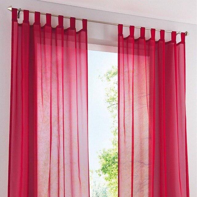 150 cm ancho) acabado cortinas para ventanas gasa voile tulle Sheer ...