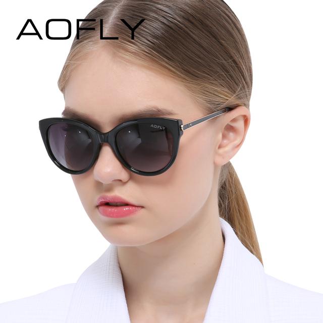 Aofly marca cat de ojos gafas de sol polarizadas diseñador de las señoras de las mujeres gafas de sol de la vendimia gafas de sol mujer de verano al aire libre eyewear