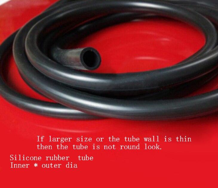 10 metros negro Tubo de goma de silicona interior x exterior 5x7 8 9 10 6x8 7 8x9mm 10mm 12 mm manguera de fontanería de tanque de peces de agua de acuario de drenaje