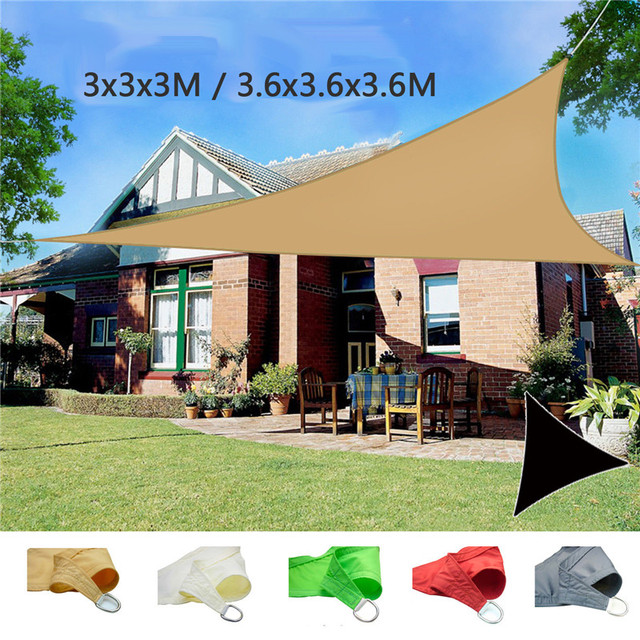 3m/3.6m Shade Net UV Waterproof Sun Shade Sail Sun Shelter Picnic Tent Canopy Outdoor Courtyard Swimming Pool Shading Park & 3m/3.6m Shade Net UV Waterproof Sun Shade Sail Sun Shelter Picnic ...