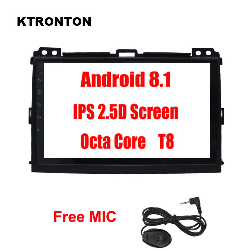 Cheap 2.5D IPS 8 Octa-core Android 8.1 Car DVD Player for Toyota Land Cruiser Prado 120 2004-2009 with Glonass GPS Radio Wifi Map 4G 0