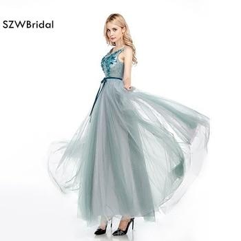 New Arrival Abendkleider V Neck Long evening gowns 2020 vestido de festa Contrast Color Evening dresses Prom dresses