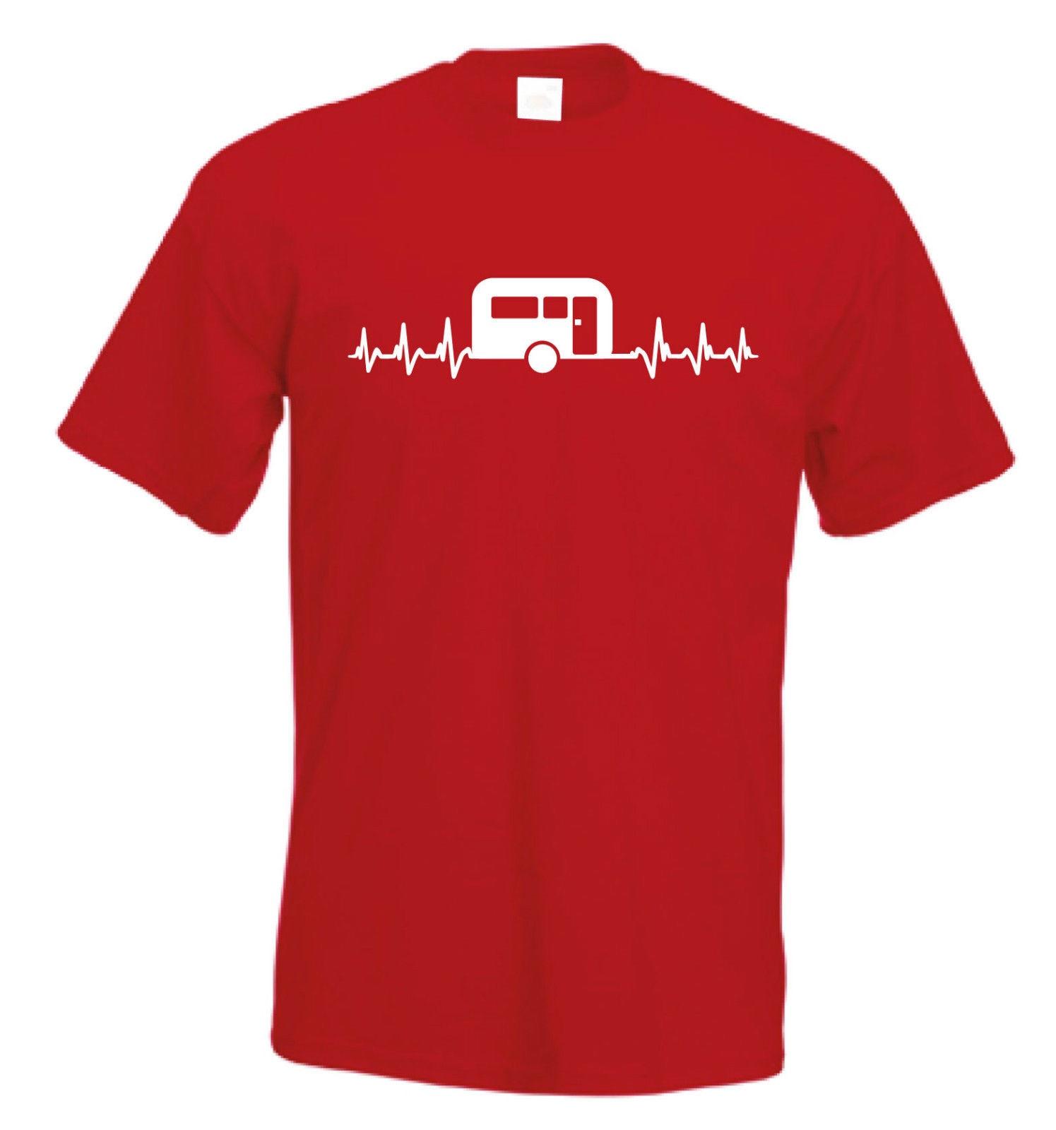 Its In My HeartBeat Caravanning T Shirt Campinger Caravan T-Shirt FREE UK P&P T-Shirt for Men/Boy Short Sleeve Cool Tees