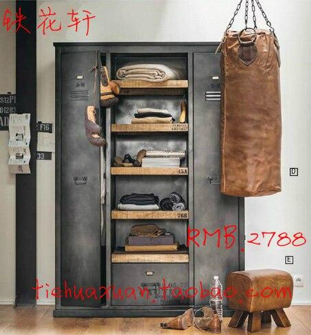 American Vintage industrielle métal armoires de vestiaires armoire ...