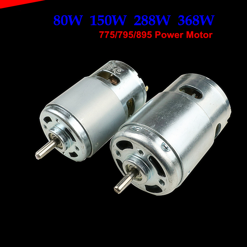 Scooter modified DC Motor! 80W 288W 150W 368W Ball bearing 12V 24V Power Electric grinding bench drill Cutting machine Motor