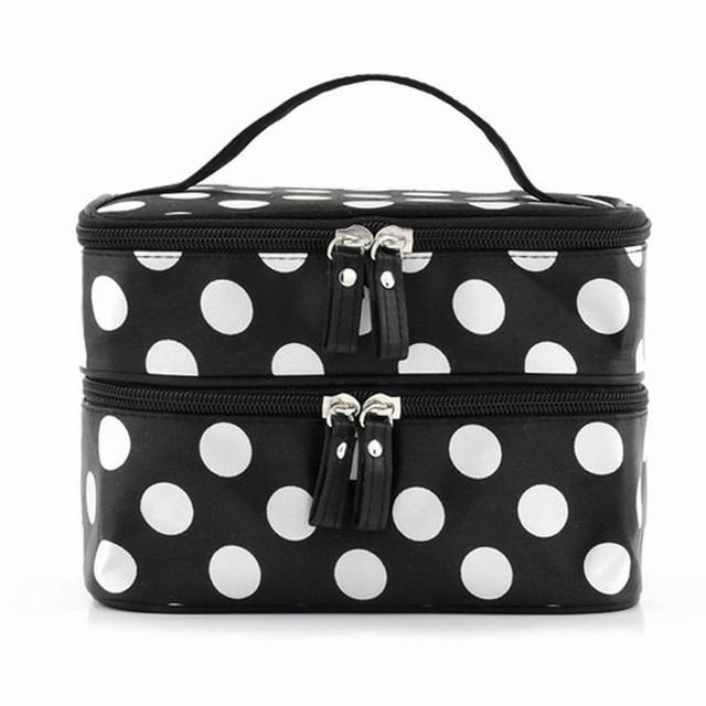 TEXU large capacity cosmetic make up organizer bag dot women handbag portable  storage bags makeup bags travel 7924b975ea1b7