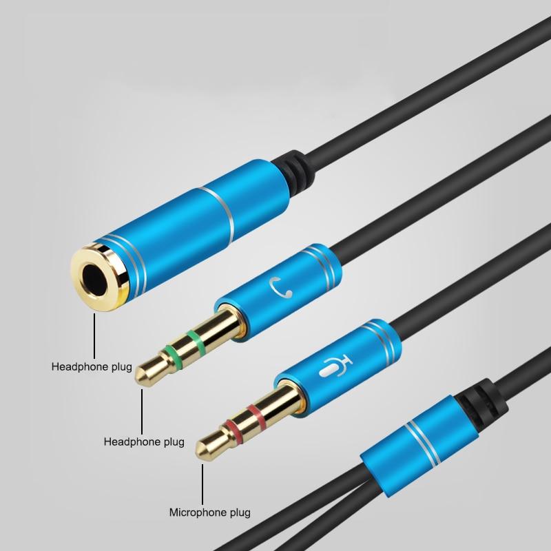 3.5mm Headphone Splitter Smartphone Headset to PC Adapter 3.5mm Jack ...