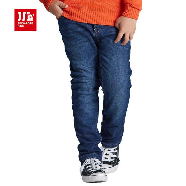 Meninos de inverno calças de brim quentes forro crianças calças crianças calças de brim quentes de lã menino denim calças jeans skinny