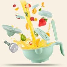 Baby Supplement Food Grinder Set Multifunction Infant Food Maker Bowl Plate Dishes Fruit Puree Machine Grinding Tool T2140
