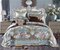 40 King queen размер роскошные свадебные королевские постельные принадлежности наборы атласная хлопковая шелковистая мягкая постельное белье п