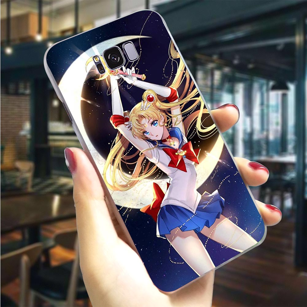 Plastic Phone Cover For Galaxy S6 Soldier Sailor Moon Case For Samsung S7 Edge Covers S8 M10 M20 M30 S9 S10 Plus S10e Note 8 9